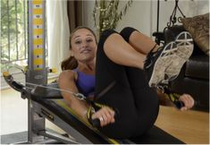 Maria Sollon of Groovy Sweat is back at Total Gym Pulse to show us five moves to tighten your core using The Total Gym. Daily Exercise Routines, Gym Routine, Total Gym Workouts, At Home Workouts, Fitness Tips, Health Fitness, Morning Workouts, Leg Lifts, Physical Activities