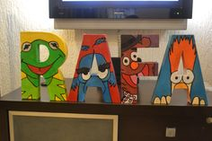 Architectural letter I made for my youngest son for his The Muppets theme birthday party