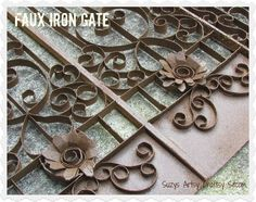 Faux Iron Gate tutorial- made from TP Tubes #recycle, #upcycle, #paper crafts