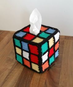 Today is the 40th anniversary of the famous  Rubik's cube :-) and I made this tissue box cover to celebrate it ;-))