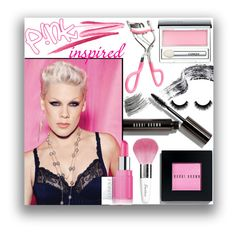 """""""P!nk Inspired"""" by smylin ❤ liked on Polyvore featuring beauty, Bobbi Brown Cosmetics, NARS Cosmetics, Clinique and Guerlain"""