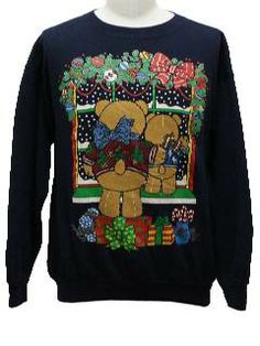 Bare-bottom Bears ugly Christmas sweater.