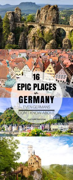 16 Epic Places in Germany Most Germans Don't Know About - Reisen - Urlaub Europe Destinations, Europe Travel Tips, European Travel, Travel Guides, Travel Goals, Cool Places To Visit, Places To Travel, Places To Go, Visit Germany