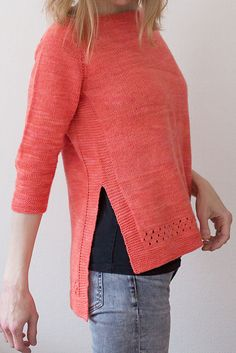 Ravelry: Perforated Sweater pattern by Suvi Simola