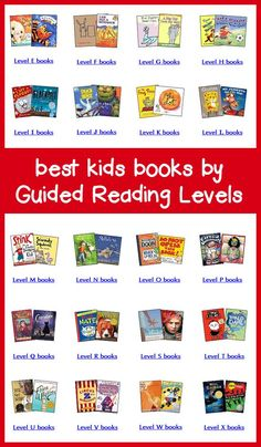 Books by Guided Reading Levels -- Teacher's Picks for Best Leveled Books