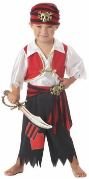 Ahoy Matey Boy's Halloween Costume 2014 - Let your child live a pirate's life in this Toddler Ahoy Matey Pirate Costume. Add a pirate hat, boots and toy weapons, and he's ready for a Halloween treasure hunt! Toddler Pirate Costumes, Pirate Kids, Pirate Halloween Costumes, Halloween Kids, Pirate Party, Spirit Halloween, Turtle Costumes, Anime Halloween, Trendy Halloween