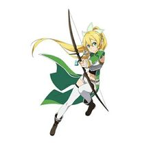 Sword Art Online - Leafa wearing Sinon's outfit