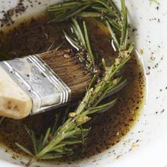 Rosemary Balsamic Marinade ~ From Web-MD ~~~{Followed recipe exactly, I marinaded thin cut porkchops 1-hr. and then grilled. I like the mild tang flavor.}