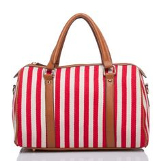 Red Stripe Satchel. Shoedazzle.