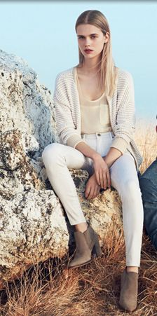 White jeans, ankle boots