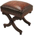 Stool/Otoman: Western Leather Furniture & Cowboy Furnishings from Lones Star Western Decor