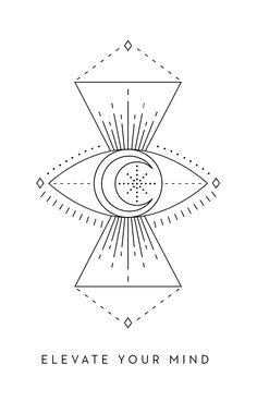 Elevate Your Mind - Inner Star Oracle Deck - The Darling Tree Geometry Art, Sacred Geometry, Eye Outline, Tarot, Nouveau Tattoo, Tattoo Ink, Arm Tattoo, Hand Tattoos, Horoscope Tattoos
