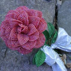 French beaded flower