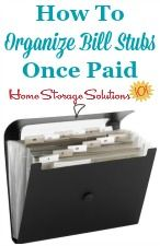 How to organize paid bills