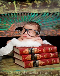Love this nerdy baby picture
