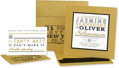 Modern Glamour Layered Wedding Invitation