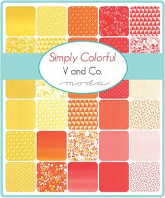 Description: Designed by V and Co. for Moda. This hand cut fat quarter bundle includes 30 - 18 x 21/22 inch fabric from the Simply Colorful collection. Designe
