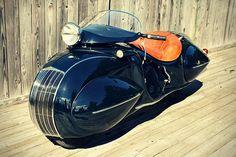 Beautiful Art Deco Custom Motorcycle