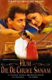 http://www.clickoncart.com/Hum-Dil-De-Chuke-Sanam-DVD starcast : Aishwarya Rai, Ajay Devgan, Dimple Inamdar, Helen, Kenny Desai, Rajeev Varma, Salman Khan, Smita Jay director : Sanjay Leela Bhansali producer : Jhamu Sugandh, Sanjay Leela Bhansali music_director : Ismail Darbar genre : Romance format : DVD label : Eros International language : Hindi year : 1999 Discs : 1