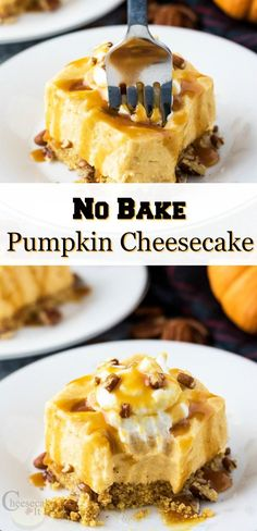 Check out this easy fall pumpkin dessert. You can make this No Bake Pumpkin Cheesecake in no time at all! Great easy dessert recipe to share with family and friends.