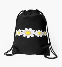 """Skull"" Drawstring Bag by Backpack Bags, Drawstring Backpack, Sell Your Art, Woven Fabric, Weaving, Skull, Backpacks, Classic"