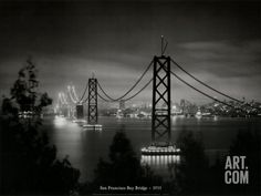 San Francisco Bay Bridge, California 1935 Art Print at Art.co.uk