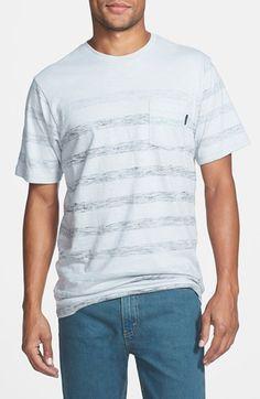 T2~Stripe Print Pocket T-Shirt