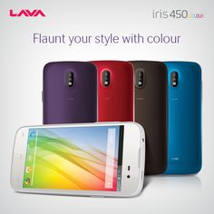 The Lava Iris 450 COLOUR+ comes in stunning, bold colors - making it one of the most colorful ranges of 3G smartphones in India.