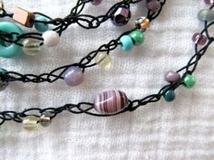 Crochet Beaded Necklace Tutorial