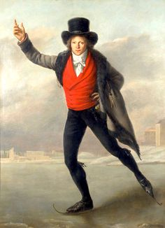 Portrait of Bertrand Andrieu Ice Skating, 1798, by Pierre-Maximilien Delafontaine
