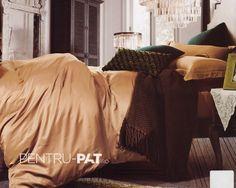Lenjerie de pat 100% bambus Pucioasa maro deschis Bean Bag Chair, Comforters, Blanket, Bed, Furniture, Home Decor, Homemade Home Decor, Stream Bed, Home Furnishings