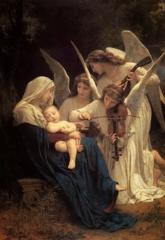 William-Adolphe Bouguereau, Song of the Angels (1881)