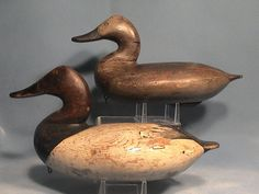 Taylor Boyd canvasback decoy pair,  Perryville, MD c. 1915