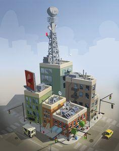 ArtStation - Editing city block