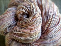 scallop  hand dyed yarn superwash merino wool by pancakeandlulu, $18.00