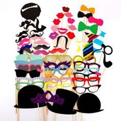 Who doesn't love a photo-booth at a party? Grab all the essentials for your next big event here! http://www.ebay.com/itm/58Pcs-Set-Funny-Wedding-Party-Photo-Props-Moustache-Hat-Small-Eyes-Lips-Paper-/172275056279?hash=item281c64be97
