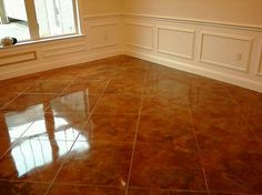 stain concrete floors indoors pictures | Con cr ete Staining - Indoor
