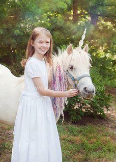 Unicorn Horn for Horses by TipTopTutu on Etsy