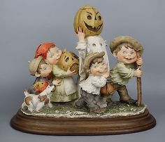 Rare-Giuseppe-Armani-Figurine-034-Our-Gang-034-MINT-WorldWide