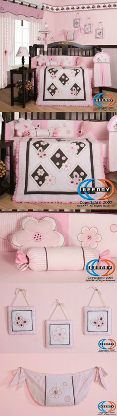 Boutique Brand New GEENNY Pink Butterfly 13PCS Baby Nursery CRIB BEDDING SET New Born, Baby, Child, Kid, Infant, Product Description This listing is for a 13 pcs beautiful GEENNY brand new Crib set with all the bundle you will need. This set is made to fit all standard cribs and toddler beds. The whole set comes..., #Baby, #Accessories