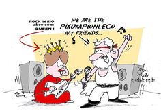 "Pois... Rock in Rio com a ""rainha Dilma""..."