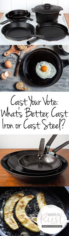 Cast Your Vote: What's Better, Cast Iron or Cast Steel? Cast Iron, Cast Iron Vs Cast Steel, Kitchen Tips, Cooking Tips, Cooking Tricks, Home Hacks, Kitchen, Cooking Tips and Tricks, Life Hacks.