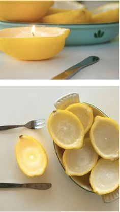 EASY LEMON CANDLES...DIY Easy Tutorials On How to Make Homemade Candles: Part 1 #diy #craft #candle #making #tutorial