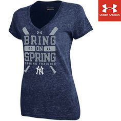 New York Yankees Spring Training 2015 Women's Tri-Blend V-Neck T-Shirt by Under Armour®