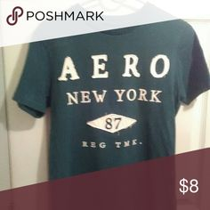 Aeropostale woman's T-SHIRT Green, w/ white lettering . good condition  Make me an offer on all four  Aeropostale items  (1) jeans👖(2)T shirts 👕 (1) Hoodie Aeropostale Tops Muscle Tees