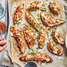 This crowd-pleaser dish is a great side as part of a big feast like Christmas lunch. Kids and adults will both love stuffed kumara, especially when they're covered in melted cheese! Kumara Recipes, Crushed Potatoes, Christmas Lunch, Christmas 2019, Christmas Ideas, Food Words, Melted Cheese, Baby Food Recipes, Food Baby