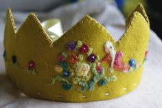 Birthday Crown - Waldorf - Custom - organic - plant dyed - wool felt