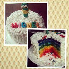 Bolo Muppets Arco-íris