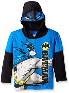 Batman Little Boys Toddler Character Hoodie Blue 2T * More info could be found at the image url.Note:It is affiliate link to Amazon.