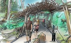 Sådan kommer Aalborg Zoo til at se ud - Building Supply DK Aquarium Architecture, Zoo Architecture, Landscape Architecture Drawing, Watercolor Architecture, Zoo Project, Aalborg, Zoo Decor, Mon Zoo, Zoo Park